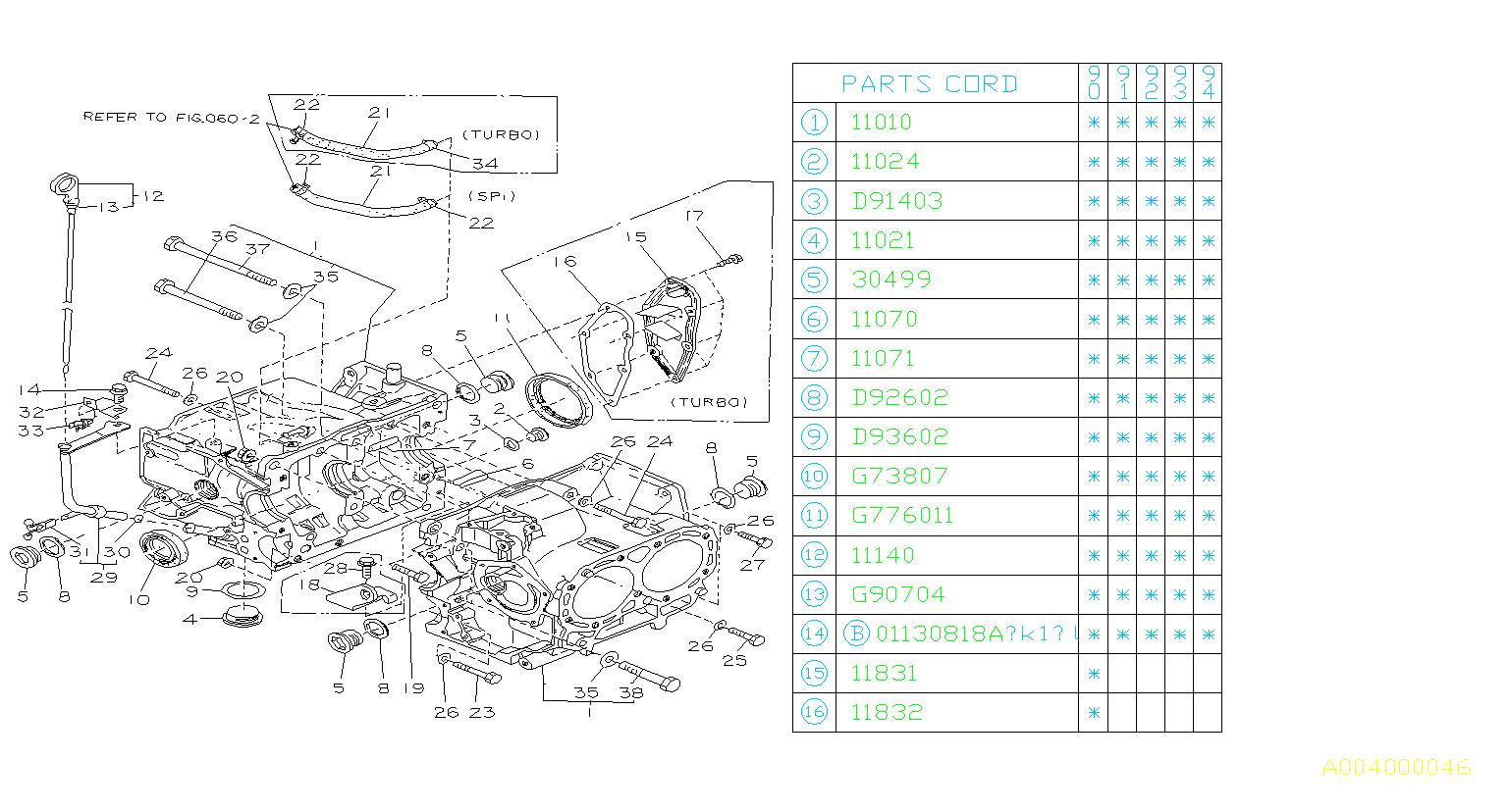 Subaru Loyale Gasket  14 5x20x1 2