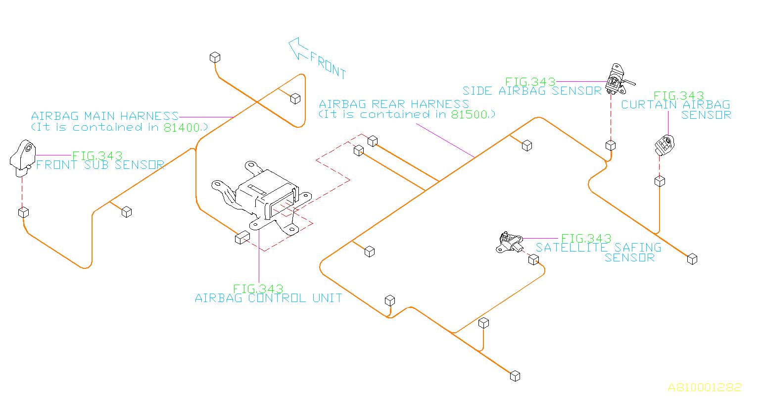 Subaru Forester Wiring Harness R   Rear   Main  Electrical